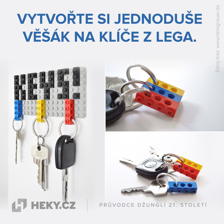 Věšák na klíče z LEGA.