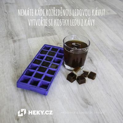 Kávové kostky ledu