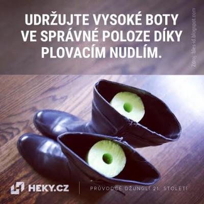 heky_plovaci nudle v botach