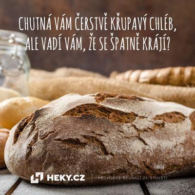 jak nakrájet chléb