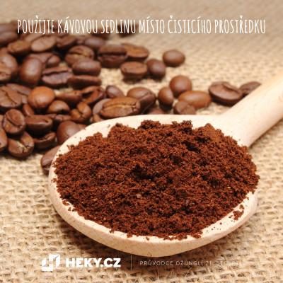 kávová sedlina jako čistící prostředek