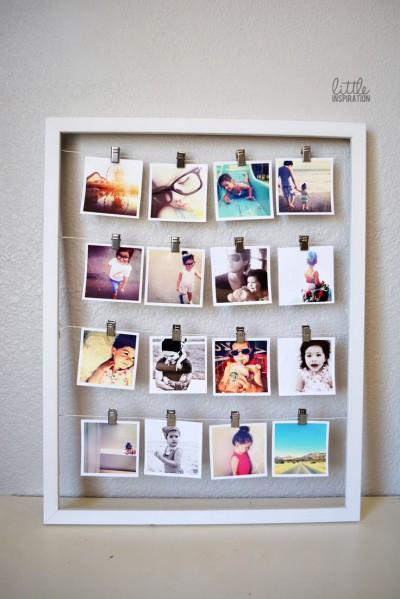 heky_obraz s fotkama na snurce