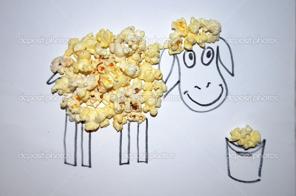 The Painted Sheep and popcorn.