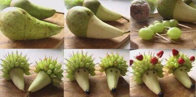 heky_jezek z ovoce