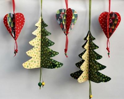 Papírové vánoční stromečky