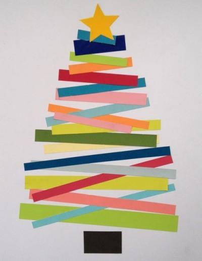 heky_stromeček z barevných proužků