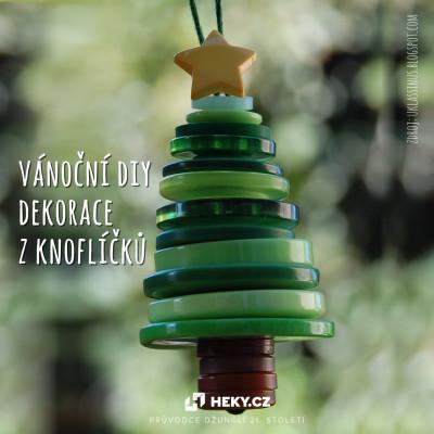 DIY Vánoční dekorace z knoflíků