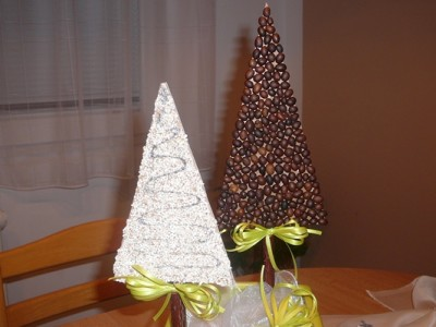 vánočni stromecek káva