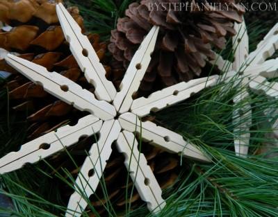 Vánoční hvězda z kolíčků