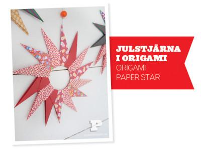 origami-papírová hvězda