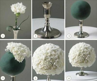 Heky - květinová dekorace