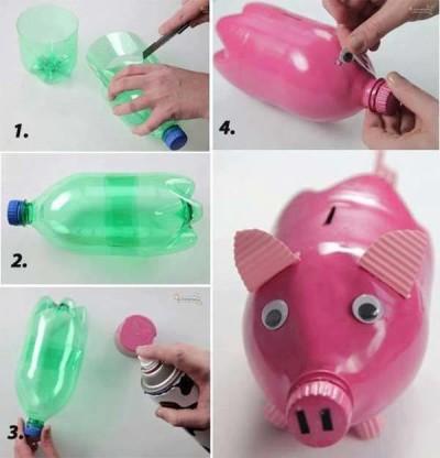 heky-pokladnička z pet lahve