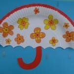 heky-deštník z papírového tácku