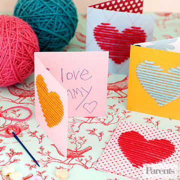 heky srdce z provázků-den matek