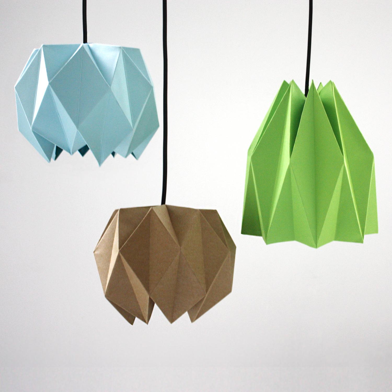Origami stínítko na lampu